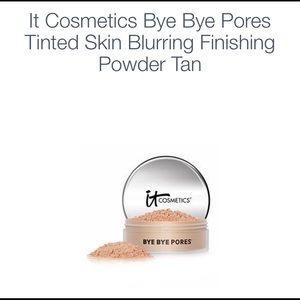 IT Bye Bye Pores Tinted Finishing Powder New